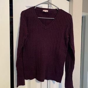 Plum V-neck sweater Size M